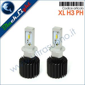 Tabella Di Conversione Lampade A Led.Dettagli Su Lampade Led H3 Kit Di Conversione Headlight H3 12 24v 5700k Blacklight