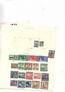 Malte Timbres-comme Neuf Charnière Et Utilisé 65 Timbres 1905 -1974 (mb10