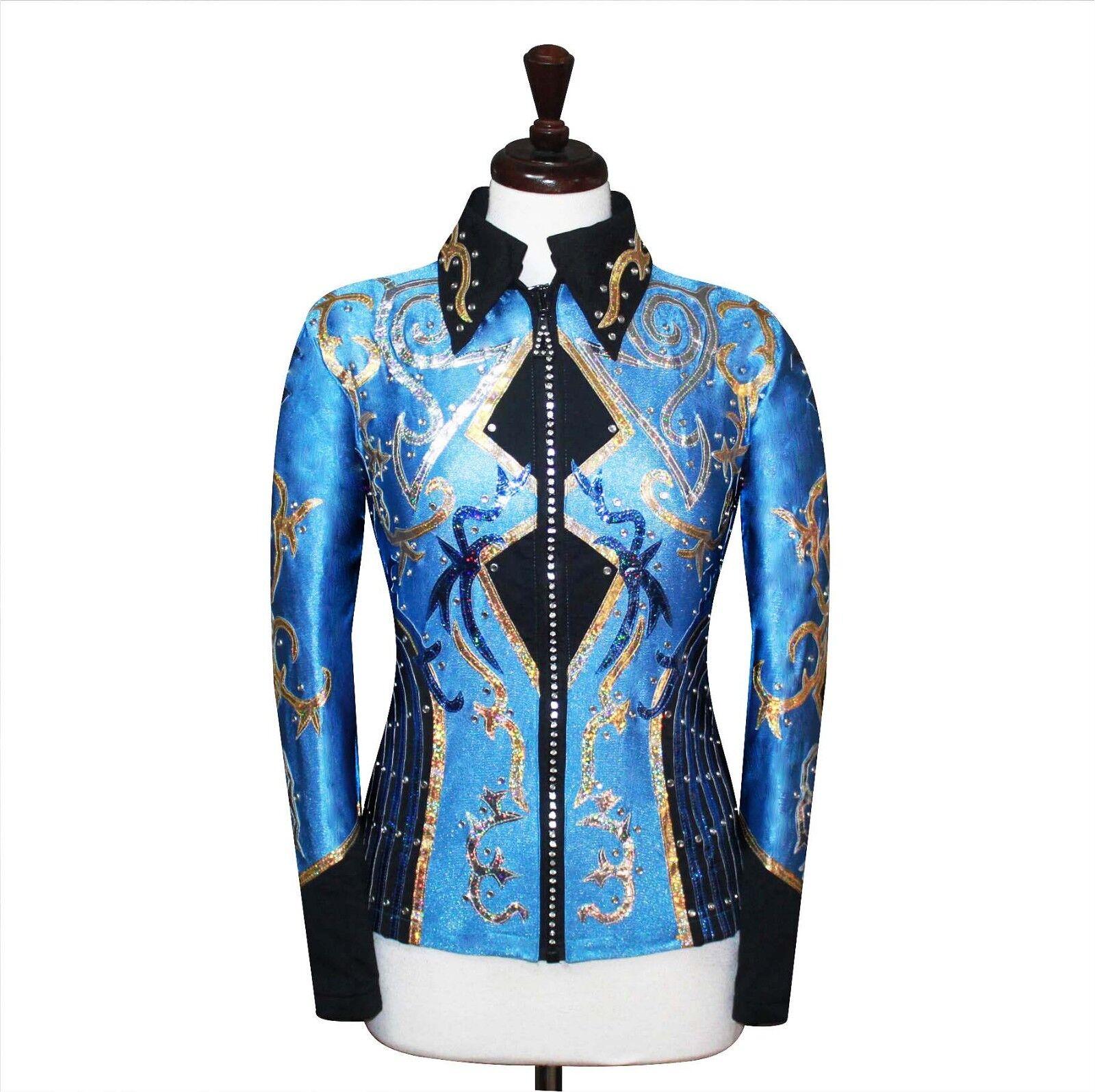 S -tecniche Piacere Equitazione Giacca Maglietta Rodeo Queen Barre Barre Barre Abbigliamento 9e6ed7