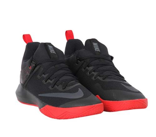 5da859a9f7f Nike Mens Zoom Shift Basketball Shoes Black Anthracite Red Sz 10.5 ...