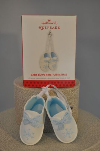 Hallmark Baby Boy's First Christmas 2013 Blue Baby Booties Ornament