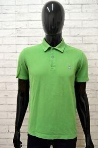 Polo-BENETTON-Uomo-Taglia-M-Maglia-Maglietta-Camicia-Shirt-Man-Cotone-Verde-Slim