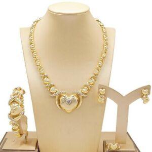 29-HUGS-amp-KISSES-XO-SET-18k-GF-Necklace-bracelet-Rings-size-9