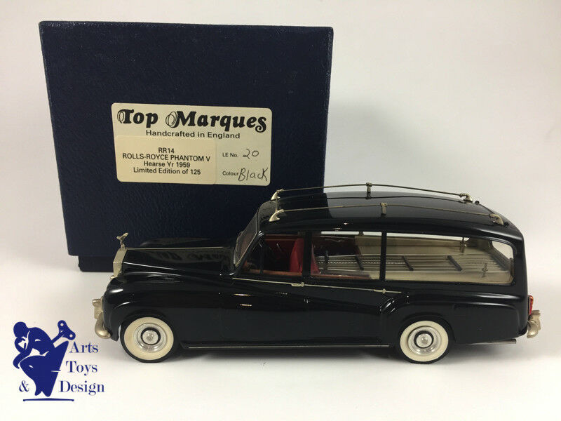 1/43 TOP MARQUES ROLLS ROYCE PHANTOM V HEARSE 1959  LIMITED ED 125 PIECES