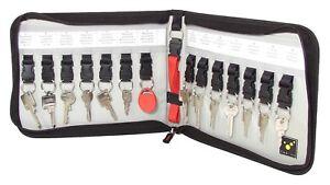 Tee-uu-Key-Safe-Schluesselmappe-Organizer-Tasche-Etui-fuer-14-Schluessel-Lanyard