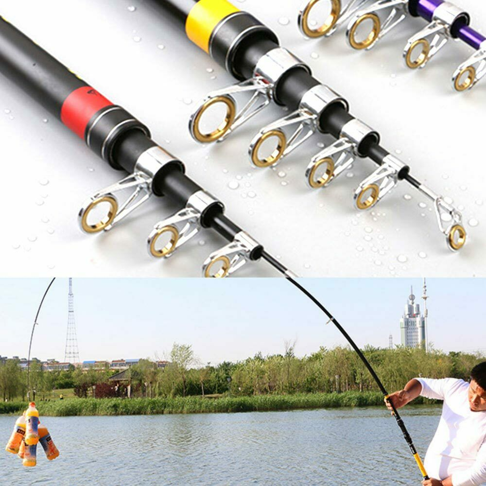 Carbon Telescopic Spinning Pole Saltwater Casting  Sea Fishing Rod 2.1 to 3.6m  get the latest