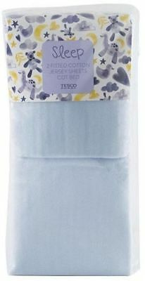 2 pack Lollipop Jersey Fitted Sheets for Cot Bed 70 x 140 cm Blue or Pink