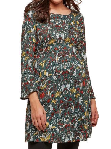 Joe Browns FLORAL Green Multi MY DESIRE Dress Longline Tunic Top Size 14 22 /& 26