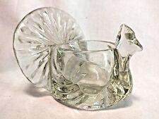 "Avon Antique Vintage 1979 Candle Holder Glass Peacock Bird 3.5"" Loose EUC"
