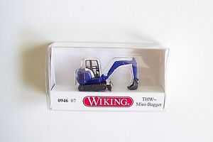 NEW-RELEASE-N-scale-Wiking-94607-Blue-THW-HR-18-Mini-Excavator-1-160-Model