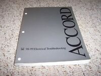 1998- 1999 Honda Accord Electrical Wiring Diagram Manual Coupe Sedan