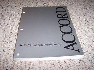 1998- 1999 Honda Accord Electrical Wiring Diagram Manual ...