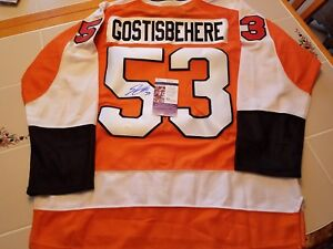 reputable site 5f9f1 f817b Details about SHAYNE GOSTISBEHERE signed FLYERS custom jersey JSA COA XL