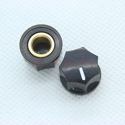 10PCS 15*10mm Generic Black Pointer knob FR DIY Guitar Amp Effect Pedal Cabinet