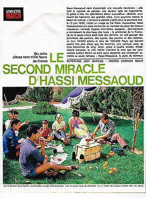 PUBLICITE ADVERTISING  1964   LE SECOND MIRACLE D'HASSI MESSAOUD  (12 pages)
