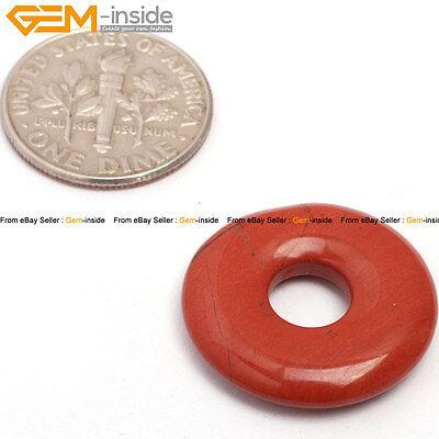New 20mm Donut Ring Gemstone Hole 5mm Jewelry Making Pendant Bead 1pc,Gem-inside