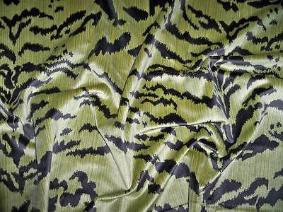 EXCLUSIVE TIGER TIGRE VELVET FABRIC 3 YARDS GREEN & BLACK