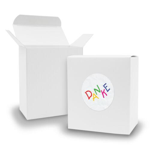 Sticker enfants Itenga Set Cadeau Merci 24x Boite Cadeau Boîte Blanc