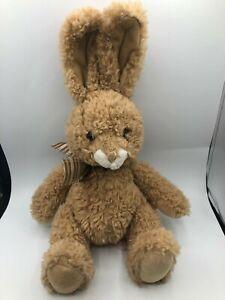 Russ-Berrie-Burr-Brown-Bunny-Rabbit-Plush-Kids-Soft-Stuffed-Toy-Animal-Doll