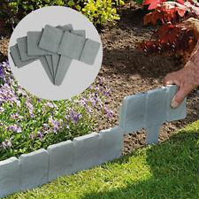 10 pcs 55cm Garden Fencing Log Panel Lawn Edging Wooden Border Arched Design UK