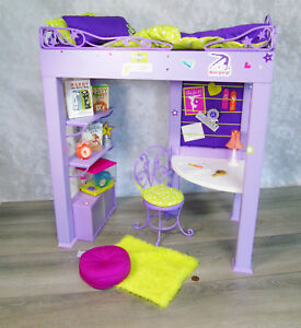 American Girl Doll Mckenna Loft Bed Desk Chair All 34 Accessories