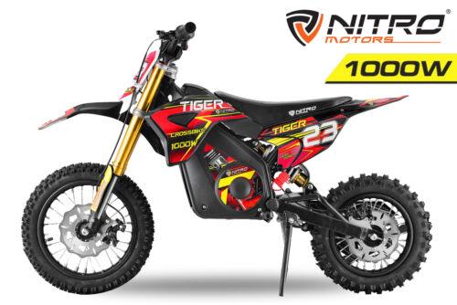 Nitro Motors 1000W Tiger Lead Acid 12//10 Dirtbike