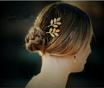 Gold Leaf Hair Clip Cuff Headdress Headband Head Band Hair Accessories Jewelry