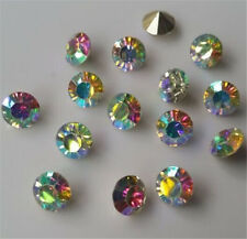 100pcs High quality AB Crystal beads Point back Rhinestones Glass Chatons Strass