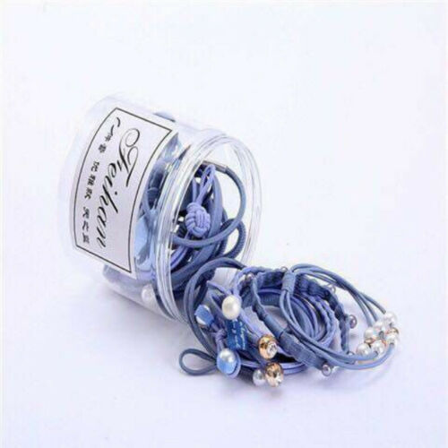 Hair Bands Rope Women Pearl Solid Stretch Hair Ties High Elastic Ponytail Holder