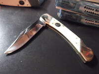 Ocoee River 5 Locking Blade Folding Knife White Bone Handle 440a German S.s.