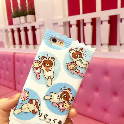 Cartoon Cute Bear Candy Lanyard Soft Silicone Case Cover For iPhone 6 6S Plus