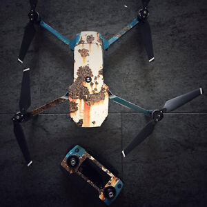 ff3915d2a89 DJI Mavic Pro Skin Wrap Decal Sticker Rusted Paint Battery Body ...