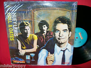 HUEY-LEWIS-HALL-amp-OATES-rare-PROMO-only-split-LP-ITALY-Unique-Art-Cover-MINT