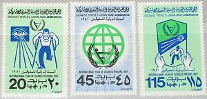 LIBYEN LIBYA 1981 857-59 910-12 Year of Disabled Jahr der Behinderten UPA MNH
