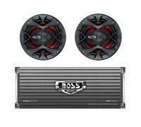 2) Boss Ch6520 6.5 250w 2-way Car Audio Speakers + Boss Ar24004 2400w Amplifier on sale