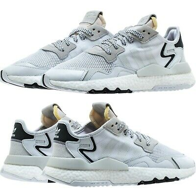 adidas Nite Jogger Men's Shoes Lifestyle Comfy Sneaker Crystal WhiteBlack | eBay