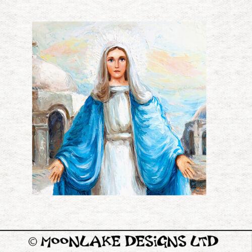Madonna Mary 2 impresión de pintura al óleo-Tela Cojín Tapicería Artesanía panelCoser