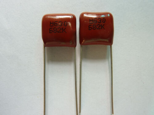 300pcs 630V 682 K 0.0068uf 6.8nf 6800pf P10 CBB13 CBB metal film capacitor