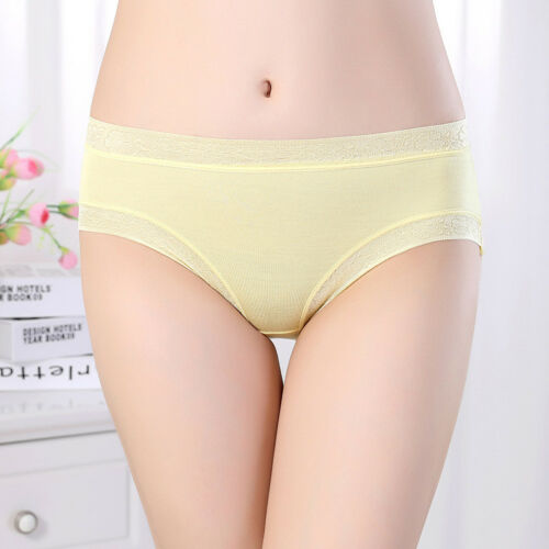 Women/'s Briefs Cotton Bamboo Underwear Large Size Solid Soft Panties Undepants