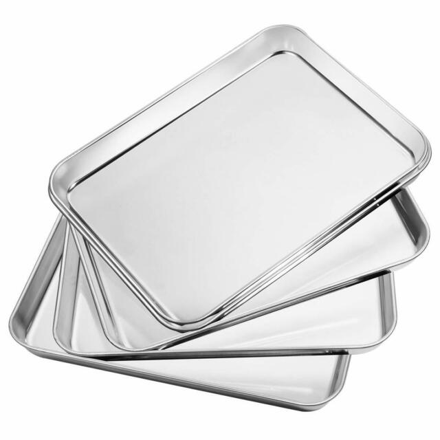 Stainless Steel Baking Pan Set Of 5 Rectangle Size 10 X 8