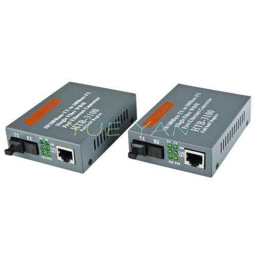 HTB-3100 A//B 25 KM Single Fiber Single Mode Fiber Transceiver WDM Fast Ethernet