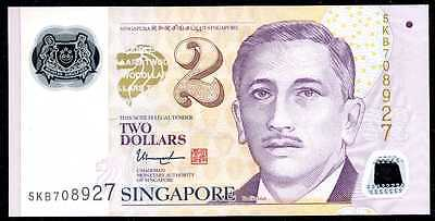 The Best Singapore 2 Dollars 2015 - P 46g 2 Diamonds Polymer Uncirculated Packing Of Nominated Brand