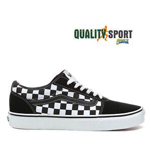 Vans Ward Nero Bianco Scacchi Scarpe Bambino Sportive Sneakers ...
