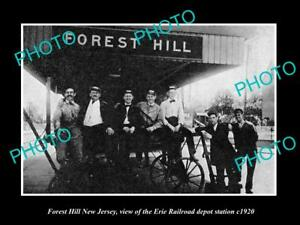 OLD-LARGE-HISTORIC-PHOTO-OF-FOREST-HILL-NEW-JERSEY-THE-RAILROAD-STATION-c1920