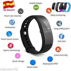 V66 Bluetooth SmartWatch Reloj Pulsera inteligente Ritmo Cardiaco Deporte Correr
