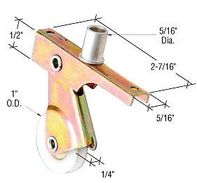 """1/"""" Nylon Sliding Screen Door Roller with Center Groove for Air Control"""