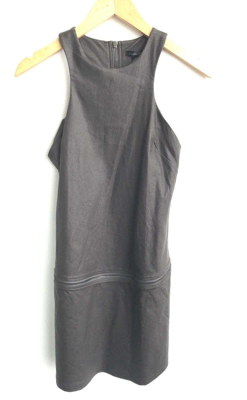 NWT Caribbean Queen Size Small Charcoal Grey Dress