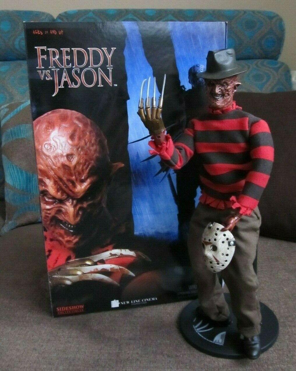 alta calidad SIDESHOW collectibles Nightmare Nightmare Nightmare Krueger FrojoDY VS JASON movie  Scale 1 6 RR    envío gratis