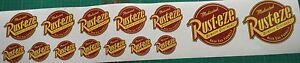 14-x-RUST-EZE-ASSORTED-SIZES-VINYL-STICKER-HOT-ROD-JDM-BOMBING-FREE-POSTAGE