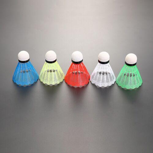 12 Stück bunte Kunststoff Badminton Ball Federbälle Sport Training Sport ER